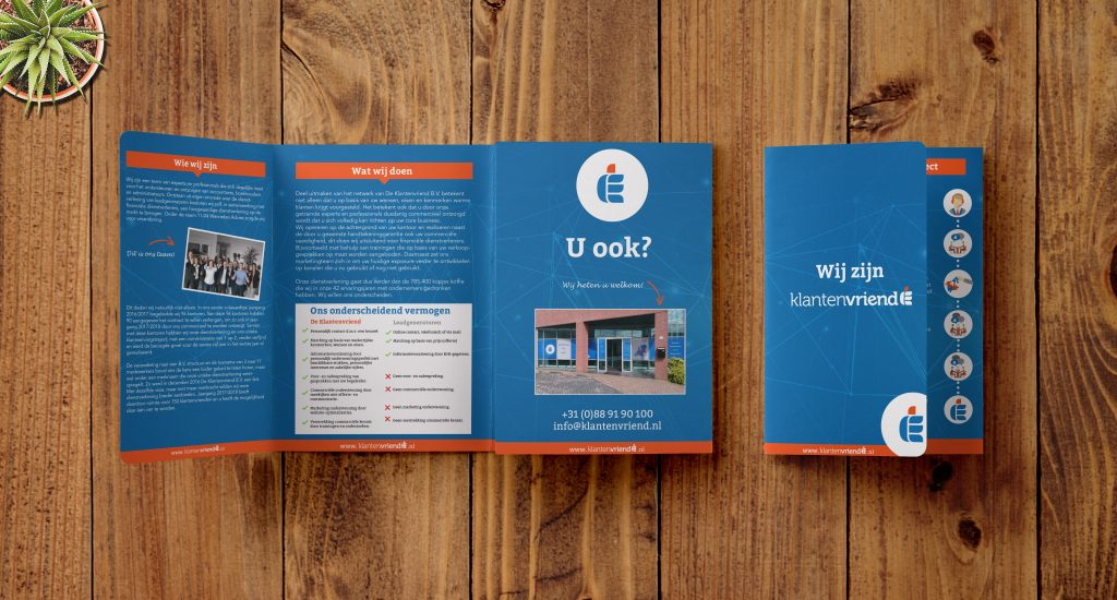 Nieuwe Stijl Grafische Vormgeving Putten Ontwerp Goedkoop Reclame Veluwe Logo Drukwerk Folder De Klantenvriend B.V.