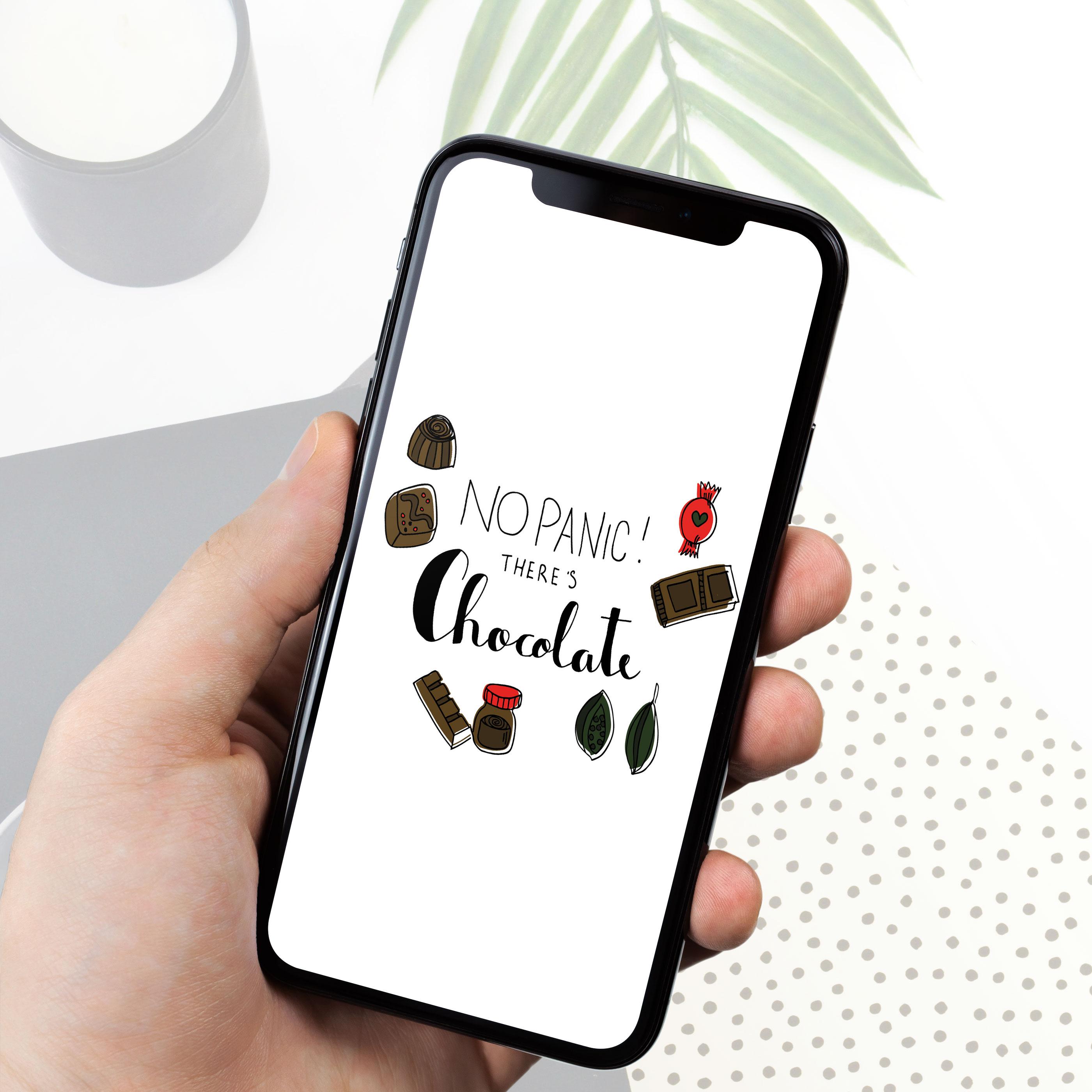 Nieuwe Stijl Grafische Vormgeving Putten Ontwerp Goedkoop Reclame Veluwe Logo Drukwerk Wallpaper Illustratie iPhone chocola